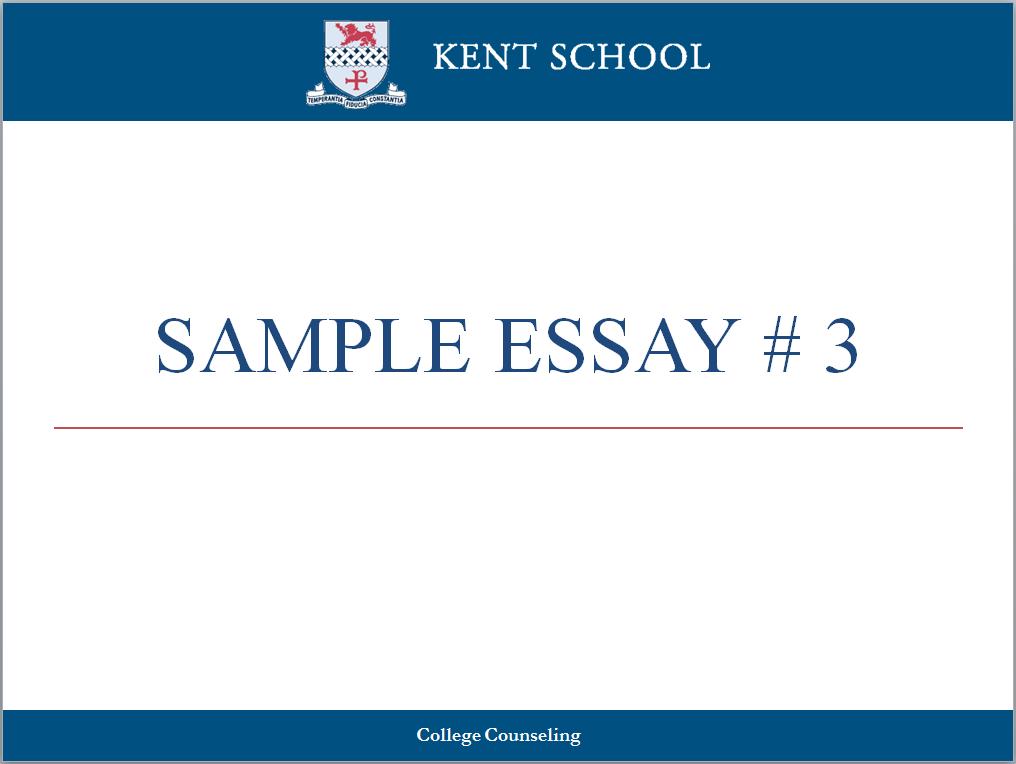 College essay writing workshop