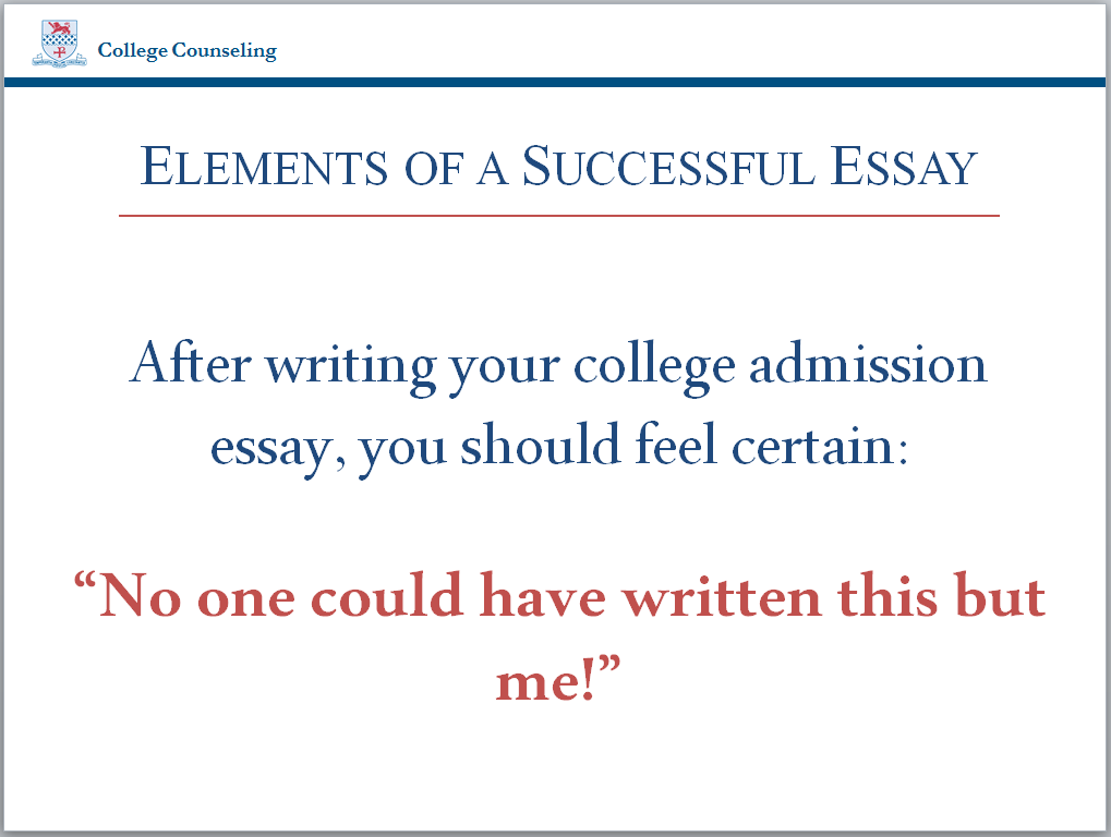 elements of a good college essay Harvard college writing program a brief guide to the elements of the academic essay most good essays have some of the first kind, and often several of.