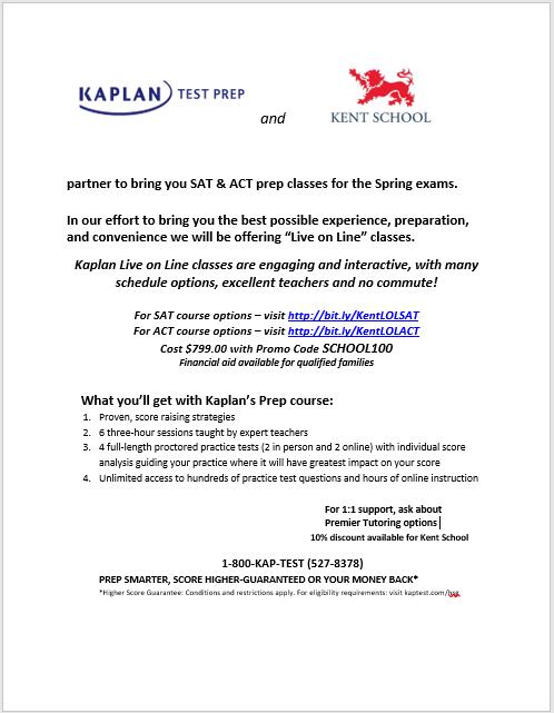 Kaplan Flyer 2019