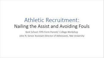 John Yi--Athletic Recruitment Presentation