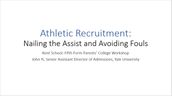 John Yi--Athletic Recruitment Presentation