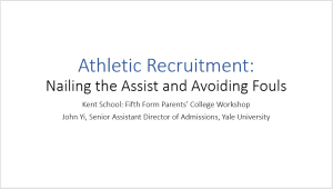 Athletic Recruiting Presentation