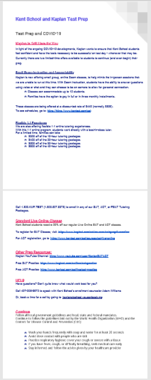 Kaplan March 2020 Newsletter